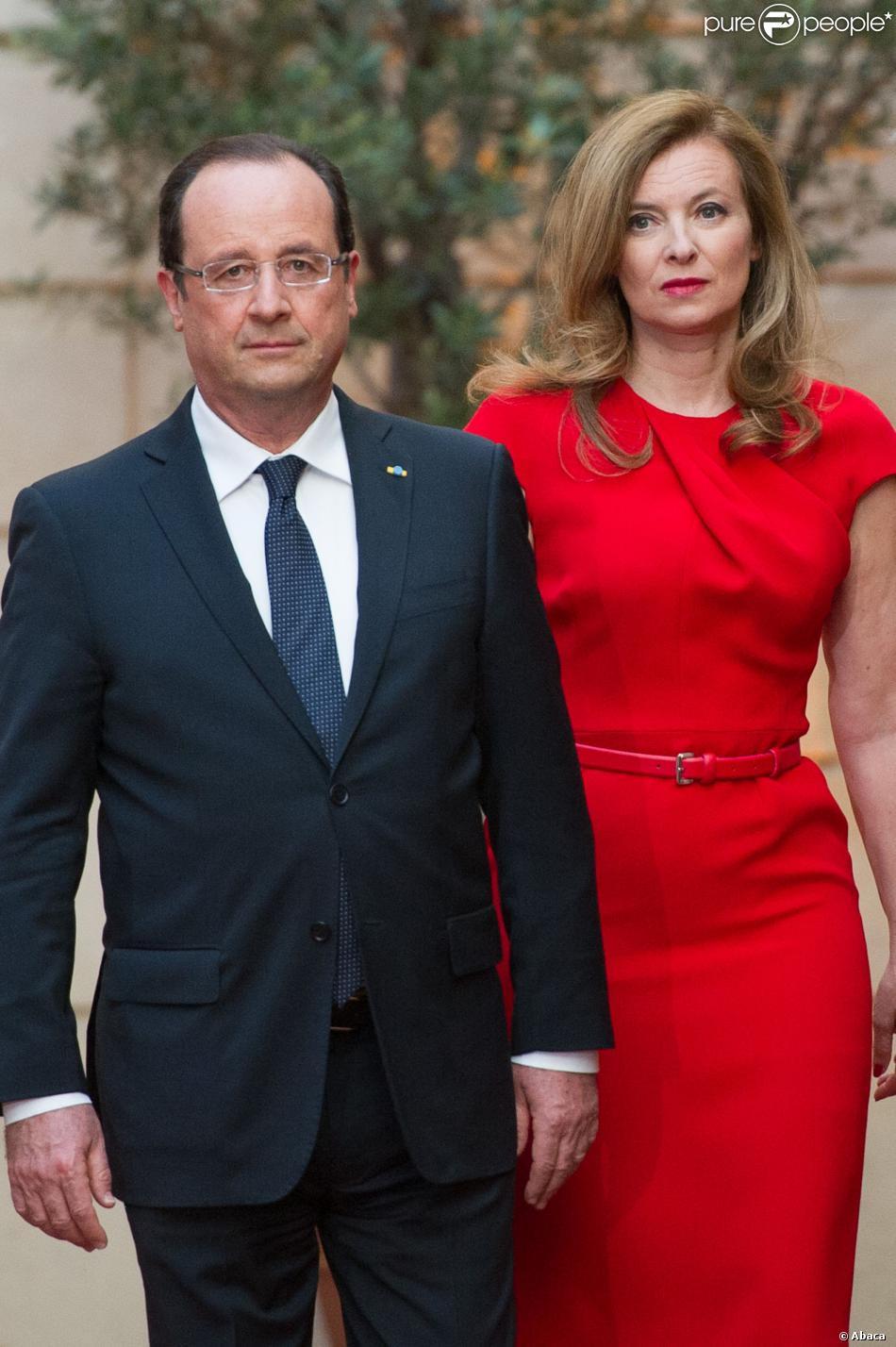 Valérie Trierweiler et François Hollande à Paris, le 7 mai 2013.
