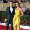 Matthew McConaughey et sa femme Camila Alves (en Casadei)lors de la 20e cérémonie des Screen Actors Guild Awards au Shrine Exposition Center de Los Angeles, le 18 janvier 2014.