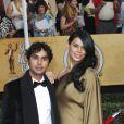 Kunal Nayyar, Neha Kapur lors de la 20e cérémonie des Screen Actors Guild Awards au Shrine Exposition Center de Los Angeles, le 18 janvier 2014.