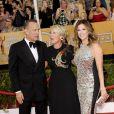 Tom Hanks, Emma Thompson, Rita Wilson lors de la 20e cérémonie des Screen Actors Guild Awards au Shrine Exposition Center de Los Angeles, le 18 janvier 2014.