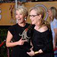 Emma Thompson et Meryl Streep lors de la 20e cérémonie des Screen Actors Guild Awards au Shrine Exposition Center de Los Angeles, le 18 janvier 2014.