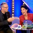 Laurent Ruquier et Florence Foresti, sur le plateau de L'Emission pour tous, le lundi 20 janvier 2014, pour la première sur France 2.