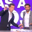 """Gad Elmaleh et Cyril Hanouna dans l'émission """"Touche pas à mon poste"""", lundi 20 janvier 2014."""