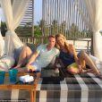Storm Uechtritz a partagé des photos de ses vacances avec son petit ami Ronan Keating aux Maldives, début janvier 2014.