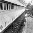 Le Titanic quittant Southampton le 10 avril 1912.