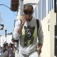Le rappeur Khalil Sharief est allé rendre visite à son ami Justin Bieber à son domicile à Miami. Le 24 janvier 2014.