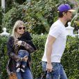 Josh Duhamel avec sa femme Fergie et leur fils Axl Jack à Brentwood, le 12 janvier 2014.
