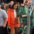 "Rihanna sur le plateau de ""Good morning America"" à New York, le 29 janvier 2014."