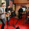 Baptiste Giabiconi a donné un concert au CHU de Lille, dans le cadre de l'opération Pièces Jaunes, le 30 janvier 2014.