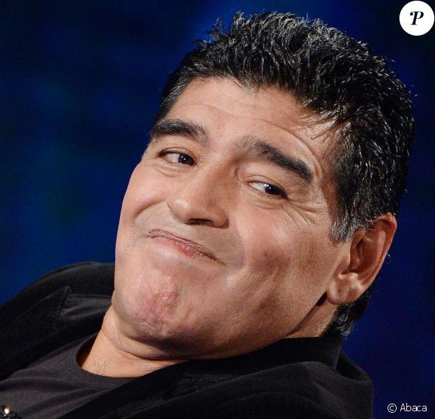 Diego Armando Maradona à Milan le 20 octobre 2013.