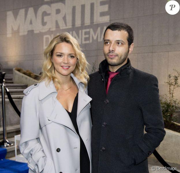 Virginie Efira et son compagnon Mabrouk El Mechri assistent à la 4ème Cérémonie des Magritte du Cinéma, au Square à Bruxelles, le 1er février 2014.