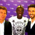 Omar Da Fonseca et Alexandre Ruiz de beIN Sport avec Mbaye Niang