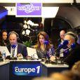 """Patrick Roger et Sonia Mabrouklors de l'inauguration du """"Train Europe 1"""" pour les municipales 2014 à Paris le 2 février 2014"""