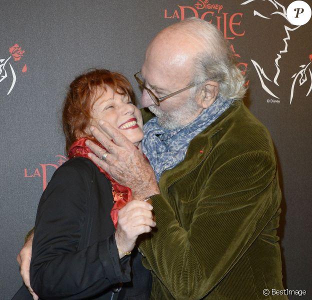 """Jean-Pierre Marielle et sa femme Agathe Natanson - Générale de la comédie musicale """"La Belle et la Bête"""" au Théâtre Mogador à Paris le 24 octobre 2013."""
