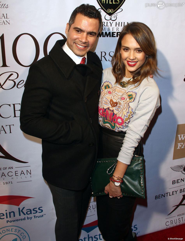 """Jessica Alba et son mari Cash Warren à la soirée """"City of Beverly Hills Centennial Party"""" à Beverly Hills, le 5 février 2014."""