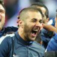 Bacary Sagna, Mathieu Valbuena, Samir Nasri, Olivier Giroud, Karim Benzema, Raphael Varane et Paul Pogbaau Stade de France à Saint-Denis le 19 novembre 2013.