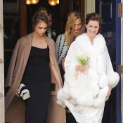 Cara et Poppy Delevingne demoiselles d'honneur au mariage de leur soeur