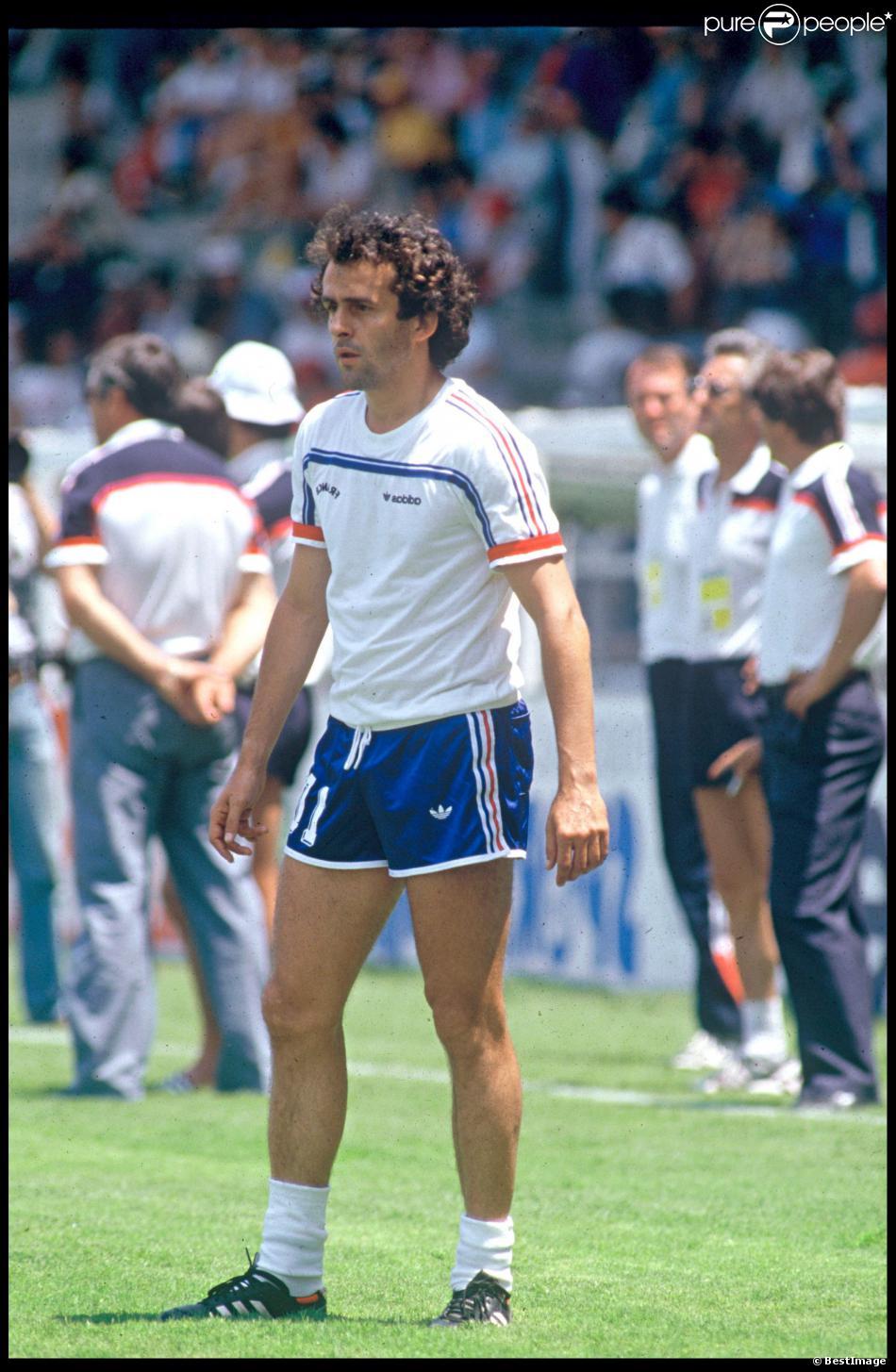 Michel platini lors de la coupe du monde 1986 au m xique le 10 juin 1986 - Coupe du monde mexique 1986 ...
