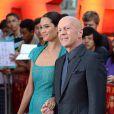 """Bruce Willis et sa femme Emma Heming - Première de """"Red 2"""" à Londres le 22 juillet 2013."""