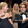Scarlett Johansson et son petit-ami Romain Dauriac à Venise, le 3 septembre 2013.