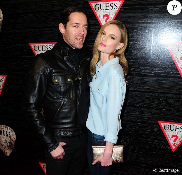"Kate Bosworth et son mari Michael Polish - Soirée ""Guess New York Fashion Week"" pendant la Mercedes Benz Fashion week à New York, le 11 février 2014"
