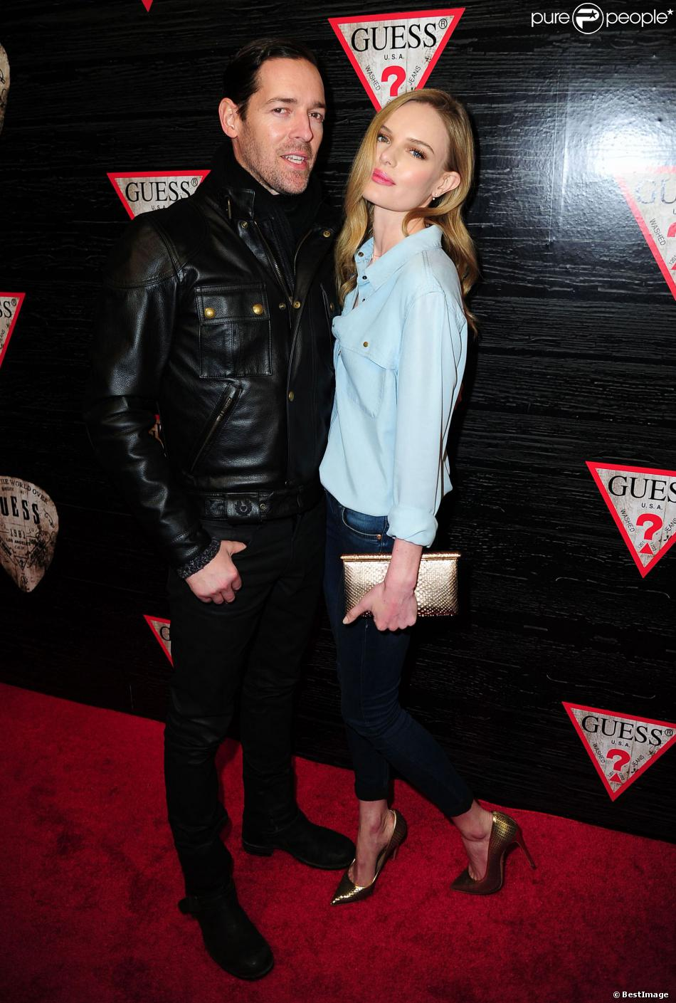 "Kate Bosworth et son mari Michael Polish - Soirée ""Guess New York Fashion Week"" pendant la Mercedes Benz Fashion week à New York, le 11 février 2014"