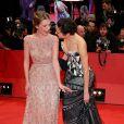 """Mélanie Laurent et sa collègue Jennifer Connelly - Première du film """"Aloft"""" lors du 64e Festival International du Film de Berlin, le 12 février 2014."""