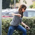 Exclusive - Jennifer Garner à Brentwood, Los Angeles, le 15 février 2014.