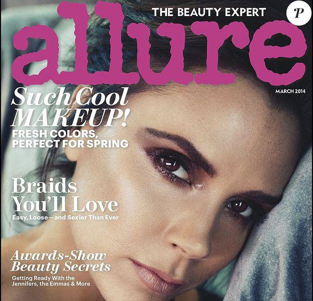 Victoria Beckham en couverture du magazine Allure. Mars 2014.