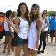 Lily Aldridge et Nina Agdalparticipent au Celebrity Chef Volleyball Tournament de Sports Illustrated Swimsuit, sur une plage de Miami. Le 20 février 2014.