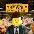Affiche parodiée du Loup de Wall Street par les LEGO pour les Oscars 2014.