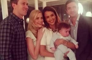 Jessica Alba : Marraine radieuse avec James, le craquant bébé de Jaime King