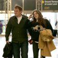 Quentin Tarantino avec une mystérieuse femme au LAX, Los Angeles, en partance pour Paris, le 26 février 2014.