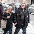 Quentin Tarantino avec une girlfriend à New York le 9 février 2014.