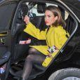 """98145 - Jessica Alba arrive au défilé """" Kenzo """" pendant la fashion week à Paris Le 02 Mars 2014"""