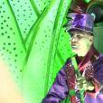 """Christian Audigier et sa fiancée Nathalie au Brésil pour le Carnaval de Rio 2014. Emission """"Must Célébrités"""" diffusée sur M6, le 8 mars 2014."""