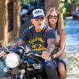 Christian Audigier et sa belle fiancée Nathalie Sorensen profitent de Los Angeles, le 26 août 2013 - Exclusif
