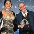 Jacques Audiard récompensé lors de la 8e cérémonie des Globes de Cristal au Lido à Paris le 4 février 2013.