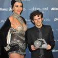 Michaël Gregorio récompensé lors de la 8e cérémonie des Globes de Cristal au Lido à Paris le 4 février 2013.