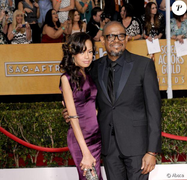 Forest Whitaker et sa femme Keisha Whitaker aux Screen Actors Guild Awards à Los Angeles, le 18 janvier 2014.