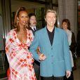 David Bowie et sa femme Iman lors d'une soirée au Lincoln Center en l'honneur de... Susan Sarandon le 6 mai 2003