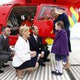 Sophie et Edward de Wessex en visite aux ambulanciers aériens de l'hôpital royal de Londres le 10 mars 2014
