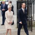 Sophie et Edward de Wessex à Westminster pour le service du Commonwealth Day le 10 mars 2014