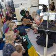 Camilla Parker Bowles et le prince Charles inauguraient un nouveau service pédiatrique à l'hôpital pour enfants de Chelsea le 18 mars 2014, à Londres.