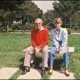 Peter Sellers et sa dernière épouse Lynn Frederick à Cannes, mai 1980.