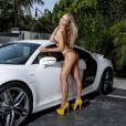 La star du X Nicole Aniston posant pour 138 Water à Las Vegas en septembre 2013