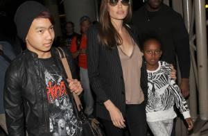 Angelina Jolie : Maman très protectrice avec ses deux enfants, Maddox et Zahara