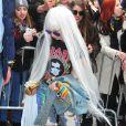 Lady Gaga arrive au Roseland Ballroom pour son concert à New York, le 27 mars 2014.