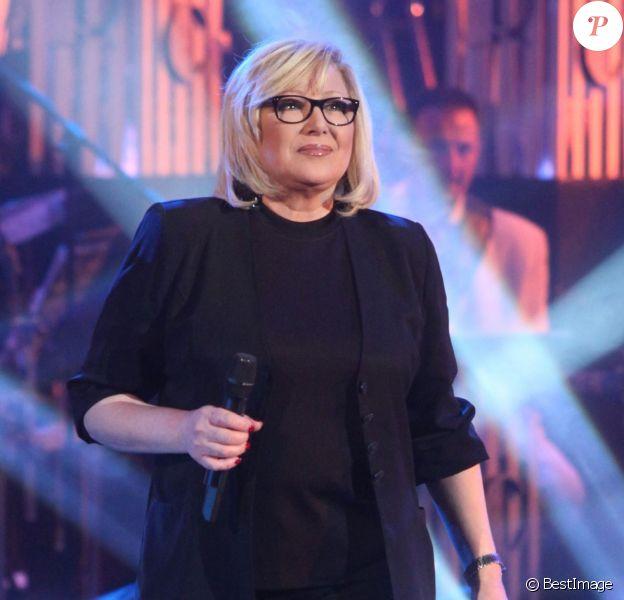 """Marie Myriam enregistre l'émission """"Les années bonheur"""" le 16 avril 2013 à Paris."""