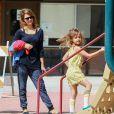 Jessica Alba et sa fille Honor à Beverly Hills, le 29 mars 2014.